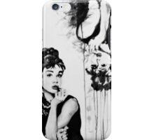 A portrait and a deconstruction of Audrey Hepburn iPhone Case/Skin