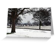 Beverley Minster from a snow covered Westwood Greeting Card