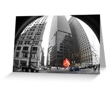Red Cube in New York Greeting Card