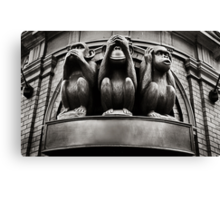 hear no evil, see no evil, speak no evil... Canvas Print