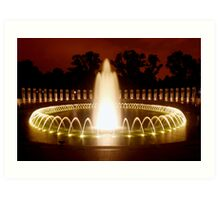 Washington DC - WWII Memorial Art Print