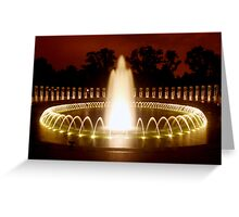 Washington DC - WWII Memorial Greeting Card