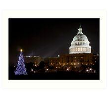 Washington DC - US Capitol Building Art Print