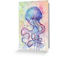 Jellyfish Watercolor Greeting Card