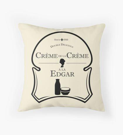 Crème de la Crème a la Edgar V.2 Throw Pillow