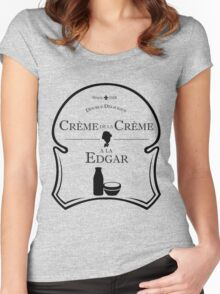 Crème de la Crème a la Edgar V.2 Women's Fitted Scoop T-Shirt