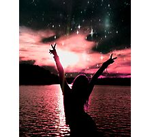 Sunset and Peace Purple  Photographic Print