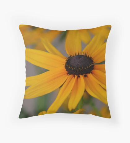 Yellow Flower Bloom Throw Pillow
