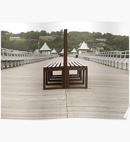 Seats On Pier Poster