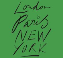 London. Paris. New York. One Piece - Short Sleeve