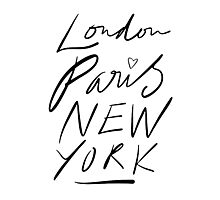 London. Paris. New York. Photographic Print