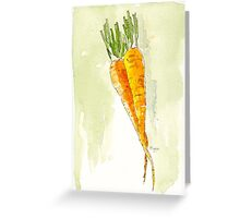 Crunchy orange powerfood Greeting Card