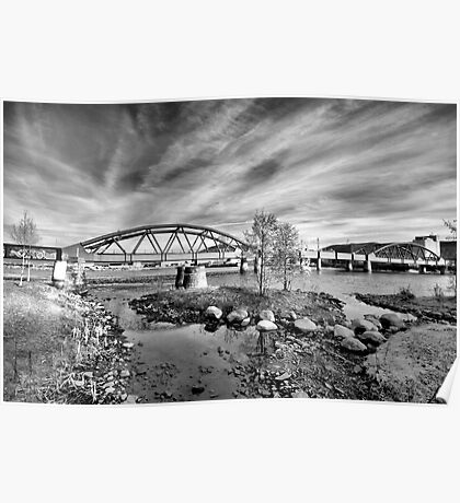 Riverpark HDR BW II Poster