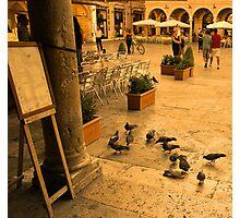 Ascoli Piazza Life Photographic Print