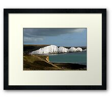 Hope Gap & the Seven Sisters Framed Print