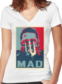 MAX ROCKATANSKY MAD Women's Fitted V-Neck T-Shirt