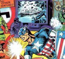 First Issue of Captain America Sticker