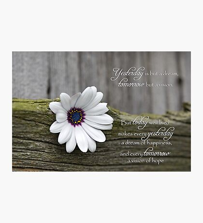 Indian Proverb Photographic Print