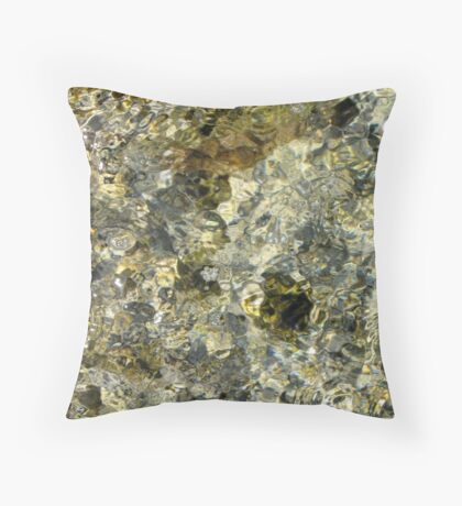 SILVER WATER OF LIFE Throw Pillow