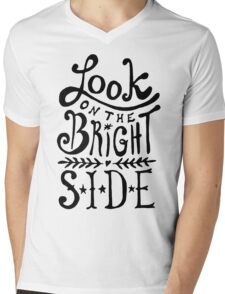Look On The Bright Side Mens V-Neck T-Shirt