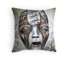 The Mask Of Sorrow Throw Pillow