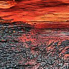 Sunset Over Jindabyne - ( inside a split log ) by Larry Davis