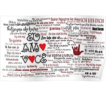I love you in over 100 different languages! Poster
