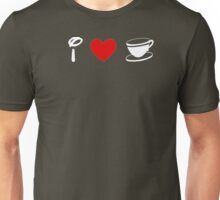 I Heart Tea Cups (Classic Logo) (Inverted) Unisex T-Shirt