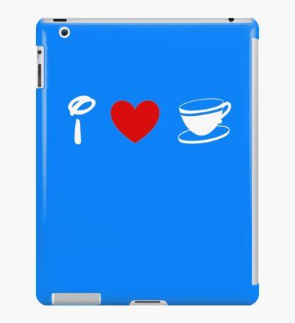 I Heart Tea Cups (Classic Logo) (Inverted) iPad Case/Skin