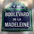 Paris Street Sign by longaray2