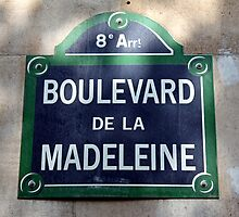 Paris Street Sign by longaray2