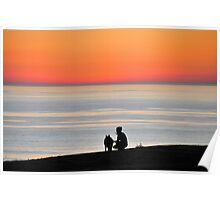 At the Cliffs Edge Poster
