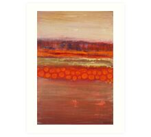 Pumpkin fields, mixed media on canvas Art Print