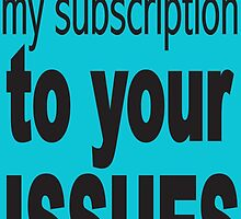 Please cencel my subscription to your issues by jdamelio