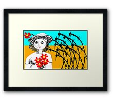 The outback lady Framed Print