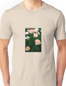 Peach Pink Rose Bunch Unisex T-Shirt