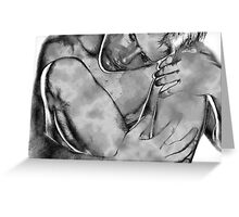 The Lessening BW Greeting Card