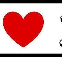 I Heart Tea Cups (Classic Logo) by ShopGirl91706