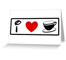 I Heart Tea Cups (Classic Logo) Greeting Card