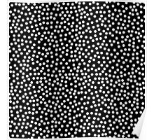Classic Baby Polka Dots in black and white. Poster