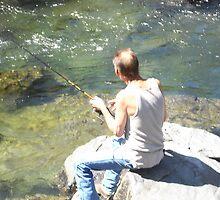Men fishing. by becca2425