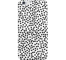 Classic Baby Polka Dots in white and black. iPhone Case/Skin