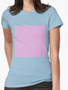 Classic Baby Polka Dots in baby pink. Womens Fitted T-Shirt