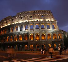 Colosseum at Night by Paul Stewart