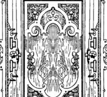 German Renaissance furniture - Black Sticker