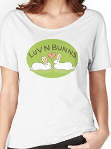 Hippity Hop - Green Bunny Design Women's Relaxed Fit T-Shirt