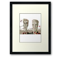 TRUE DETECTIVE - cartoon Framed Print