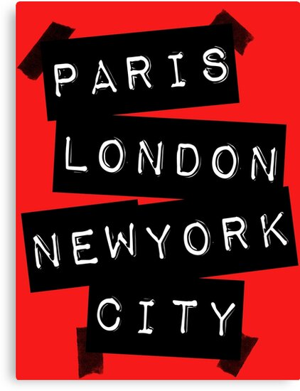 PARIS LONDON NEW YORK CITY by TheLoveShop
