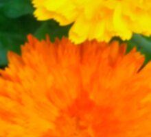 Yellow & Orange Sunshine Floral Sticker