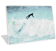 Surfer Ride the Waves Laptop Skin